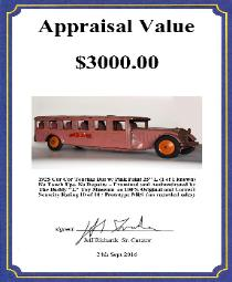 free antique toys appraisals buying vintage space toys japan tin cars german tin toys rare buddy l trucks free online appraisals price guide buddy l trains for sale buddy l baggage truck dual rear wheels doors headlights buying buddy l toys single toys entire collection, online toy appraisals, free buddy l truck price guide,  free toy appraisals buddy l fire trucks wanted vintage space toys wanted tin toy japan