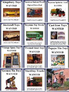 Buying vintage toys highest prices paid Buddy L Museum offering free toy appraisals vintage German tin toys, Japanese tin toys, antique American toys, cast iron, pressed steel, tin. Buddy L Museum world's largest buyer of rare antique toys Guaranteed highest prices paid